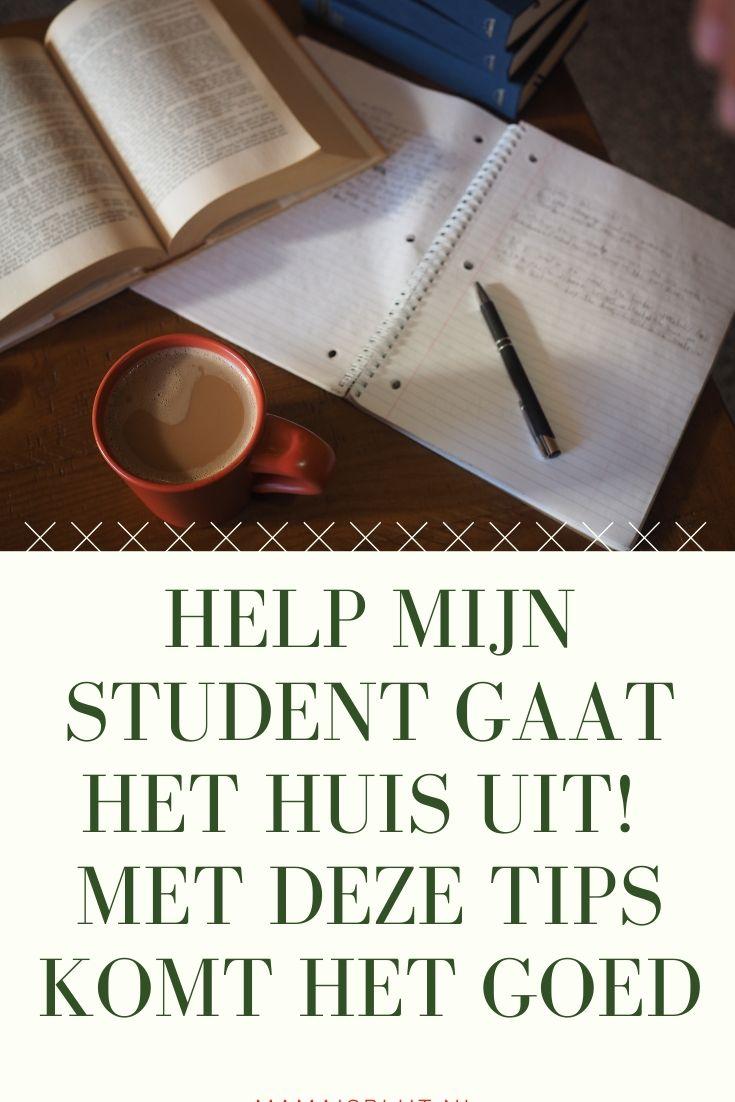 student uit huis tips