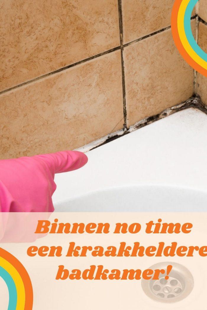 De badkamer weer als nieuw met deze tips!